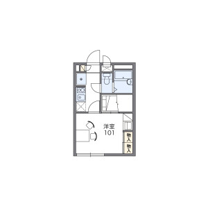 1K Apartment in Minamitanaka - Nerima-ku Floorplan