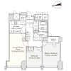 2LDK Apartment to Rent in Chiyoda-ku Floorplan