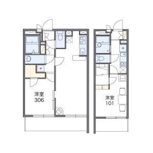 1K Apartment in Toyotamanaka - Nerima-ku Floorplan