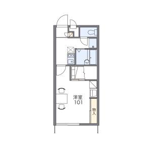 1K Apartment in Umegaoka - Dazaifu-shi Floorplan