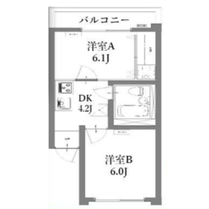 2DK {building type} in Nishishinjuku - Shinjuku-ku Floorplan