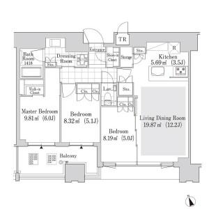 3LDK Mansion in Nishishinagawa - Shinagawa-ku Floorplan