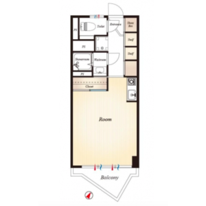 1R Apartment in Kitashinjuku - Shinjuku-ku Floorplan
