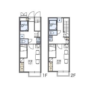小平市小川町-1K公寓 房間格局