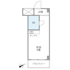 1R Mansion in Chuo - Nakano-ku Floorplan