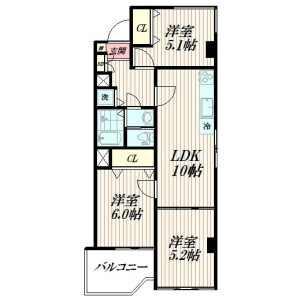 3LDK {building type} in Jiyugaoka - Meguro-ku Floorplan