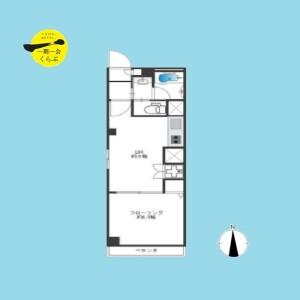 1LDK {building type} in Honcho - Nakano-ku Floorplan