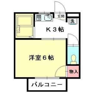北本市高尾-1K公寓 楼层布局
