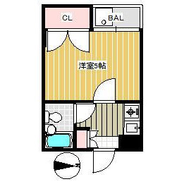 1K Mansion in Ikebukurohoncho - Toshima-ku Floorplan