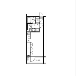 1R Mansion in Nishikigaoka - Yokohama-shi Kohoku-ku Floorplan