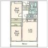 在澀谷區內租賃2LDK 公寓大廈 的房產 房間格局