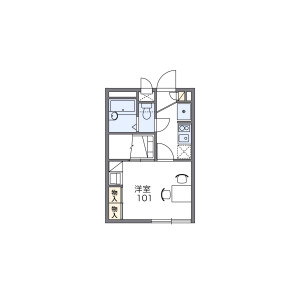 1K Apartment in Kamisakunobe - Kawasaki-shi Takatsu-ku Floorplan