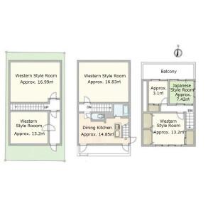 6DK {building type} in Yamada kurumatsukacho - Kyoto-shi Nishikyo-ku Floorplan