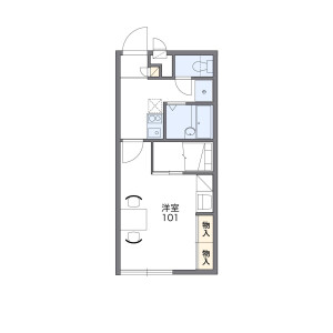 1K Mansion in Tsuga - Chiba-shi Wakaba-ku Floorplan
