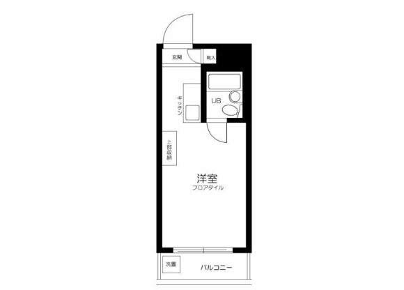 1R Apartment to Rent in Shinagawa-ku Floorplan