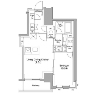 1LDK Mansion in Kamata - Ota-ku Floorplan