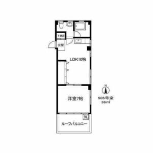 1LDK Mansion in Takaban - Meguro-ku Floorplan