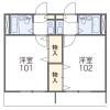 在横濱市戶塚區內租賃1K 公寓 的房產 房間格局