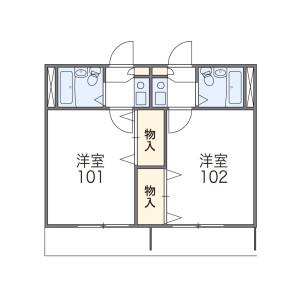 横濱市戶塚區汲沢-1K公寓 房間格局