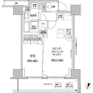 渋谷区 本町 1LDK マンション 間取り