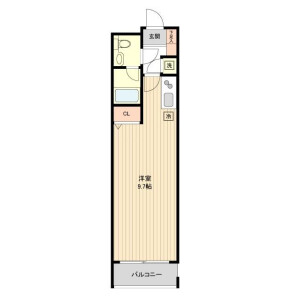 1R Mansion in Meguro - Meguro-ku Floorplan