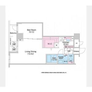 1DK Mansion in Minato - Chuo-ku Floorplan