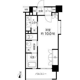 1K Mansion in Shimochiai - Shinjuku-ku Floorplan