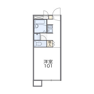 1K Apartment in Kizuki - Kawasaki-shi Nakahara-ku Floorplan