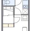 1K Apartment to Rent in Osaka-shi Sumiyoshi-ku Floorplan