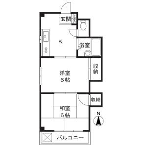 2K Mansion in Shukugawara - Kawasaki-shi Tama-ku Floorplan