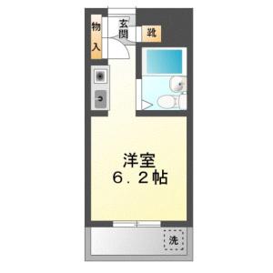 1R {building type} in Shinoharadaimachi - Yokohama-shi Kohoku-ku Floorplan