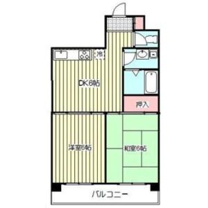 2DK Mansion in Namiki - Kawaguchi-shi Floorplan