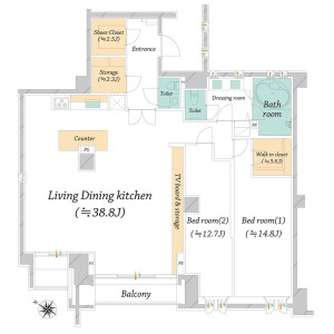2LDK Apartment in Nampeidaicho - Shibuya-ku Floorplan