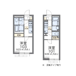 1K Apartment in Matsunoki - Suginami-ku Floorplan
