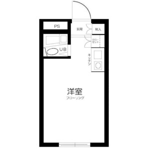 1R Mansion in Nishiogiminami - Suginami-ku Floorplan