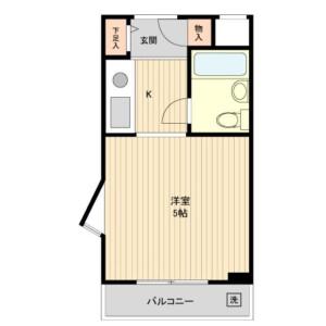1R Mansion in Nagasaki - Toshima-ku Floorplan