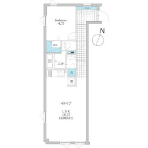 1LDK Apartment in Otowa - Bunkyo-ku Floorplan