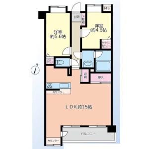 2LDK Apartment in Nishitakenotsuka - Adachi-ku Floorplan