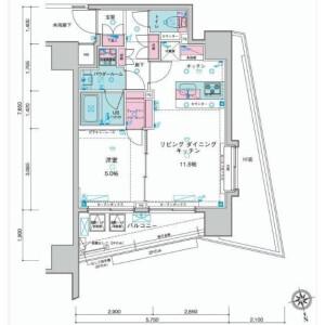1LDK Apartment in Funamachi - Shinjuku-ku Floorplan