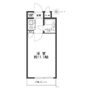 1K Mansion in Jinnan - Shibuya-ku Floorplan