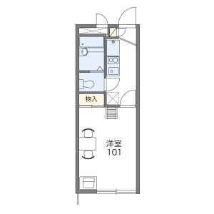 1K Apartment in Yahiro - Sumida-ku Floorplan