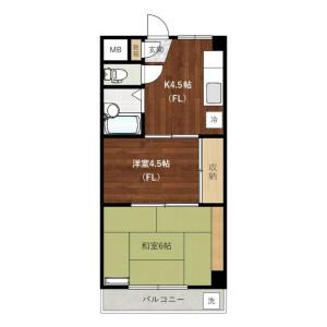 2K Mansion in Tsuchihashi - Kawasaki-shi Miyamae-ku Floorplan