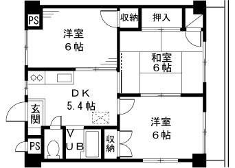 在町田市內租賃3DK 公寓大廈 的房產 房間格局