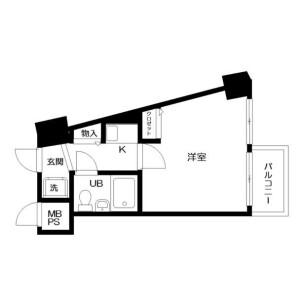 1K Mansion in Tateishi - Katsushika-ku Floorplan