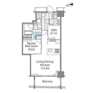 1SLDK Mansion in Shinjuku - Shinjuku-ku Floorplan