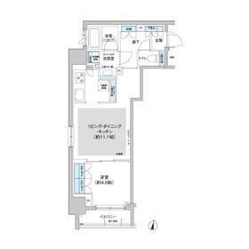 1LDK Apartment in Kitashinjuku - Shinjuku-ku Floorplan