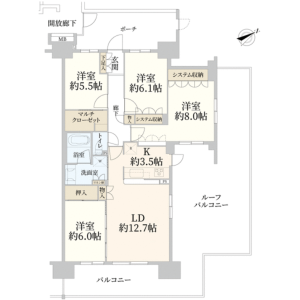 江東区 北砂 4LDK {building type} 間取り