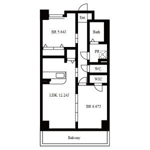 2LDK Apartment in Tsurumai - Nagoya-shi Showa-ku Floorplan