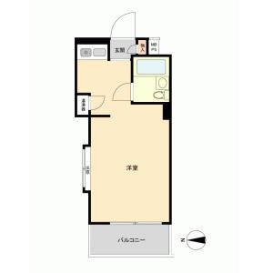 1R {building type} in Toyotamakita - Nerima-ku Floorplan