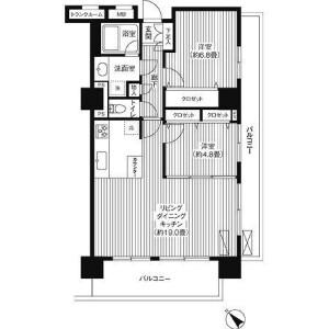 2LDK Mansion in Takaidohigashi - Suginami-ku Floorplan